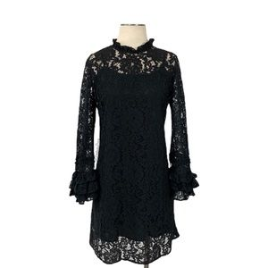 WhoWhatWear- Black Floral Lace Dress Size Small